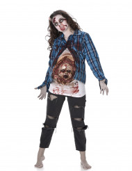 Costume da Zombie incinta con bebè in lattice donna Halloween