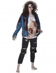 Costume zombie pancia in lattice donna