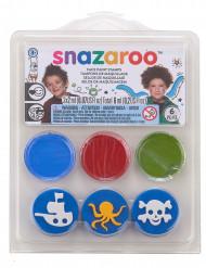 Mini kit trucco con stampini oceano & pirati Snazaroo™