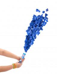 Cannone sparacoriandoli rotondi blu 20 cm