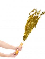 Cannone sparacoriandoli dorati 20 cm