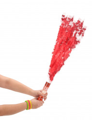 Cannone sparacoriandoli rotondi rossi 20 cm