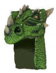 Casco da dragone verde per adulto