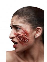 Trucco Halloween: ferita infetta con vermi