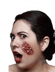 Trucco Halloween: finta piaga con vermi