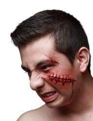 Trucco di Halloween: finti punti di sutura