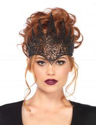 Corona malefica nera per donna Halloween