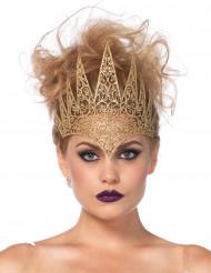 Corona malefica dorata donna Halloween