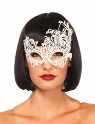 Maschera veneziana di colore bianco