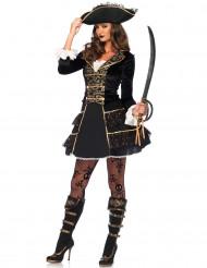 Costume capitano pirata da donna