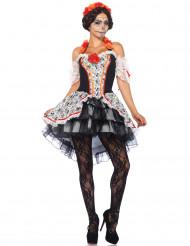 Costume da Calavera Dia de Los Muertos per donna