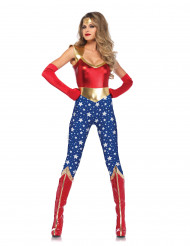 Costume da supereroina americana per donna