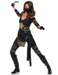 Costume da ninja dragone d'oro per donna