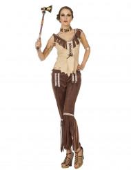 Costume da indiana beige e marrone per donna