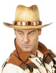 Cappello di paglia da esploratore per adulto