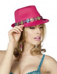 Cappello borsalino fucsia simbolo della pace