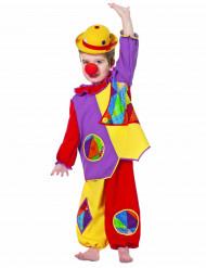 Costume da pagliaccio colorato per neonato