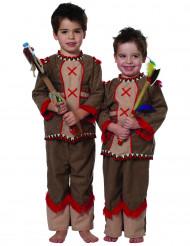 Costume da indianino marrone e rosso per neonato