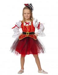 Costume da pirata con tutù rosso per bambina