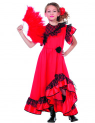 Costume da ballerina spagnola rosso per bambina