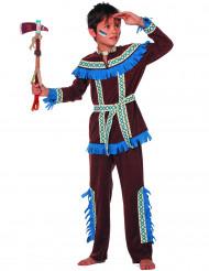 Costume da Indiano d'America frange blu per bambino