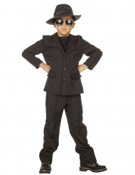 Costume da gangster nero per bambino