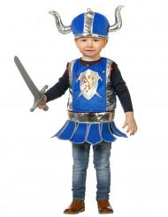 Costume da piccolo guerriero blu per neonato