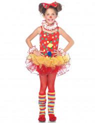 Costume da pagliaccio con tutù per bambina