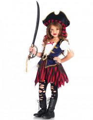 Costume tesoro da pirata da bambina