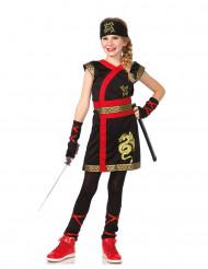 Costume da ninja del drago dorato per bambina