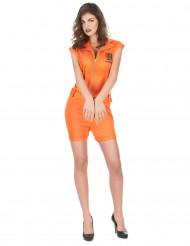 Costume prigioniera sexy pantaloncino arancione per donna