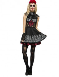 Costume da scheletro sexy Dia de los Muertos per donna