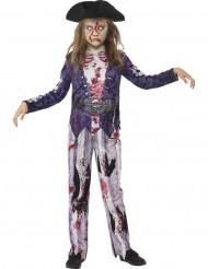 Costume zombie pirata Halloween bambina