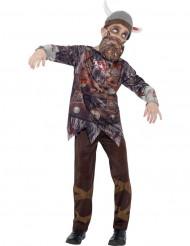 Costume zombie vichingo bambino Halloween