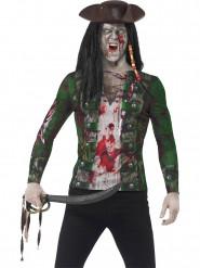 T-shirt pirata zombie adulto