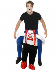 Costume uomo a dorso di clown cattivo adulto Halloween