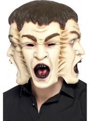 Maschera 3 volti adulto Halloween