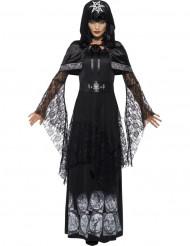 Costume da maestra di cerimonia magia nera donna Halloween