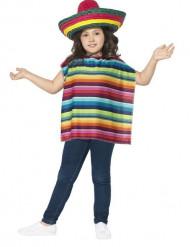 Poncho e sombrero messicano da bambini