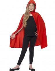 Mantello con cappuccio rosso per bambino