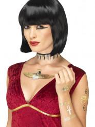 Image of Kit tatuaggi temporanei egiziani metallizzati per adulto