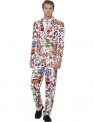 Costume Mr. Groovy multicolore per uomo