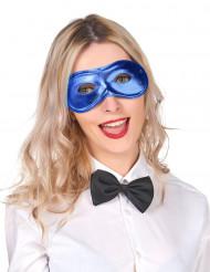 Image of Maschera blu metallizzata elettrico adulto