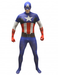 Costume Morphsuits™ Capitan America™ adulto