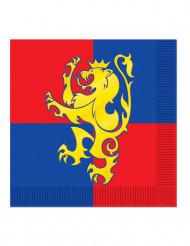 16 Tovaglioli di carta stemma medievale