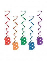 Ghirlande verticali multicolori 18 anni