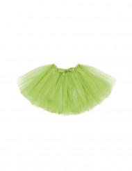 Tutu verde aggiustabile per bambina