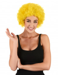 Image of Parrucca afro/clown gialla standard per adulto