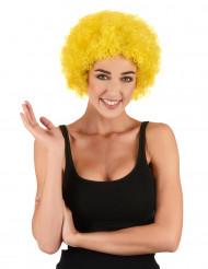 Parrucca afro/clown gialla standard per adulto