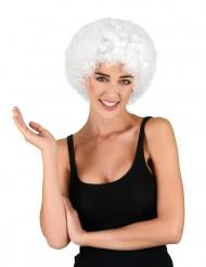 Parrucca afro/clown bianca standard per adulto